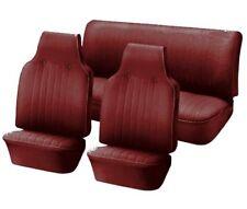 1974-76 VW Volkswagen Bug Super Beetle Slip On Upholstery- F/R-Red Basketweave
