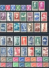 """FRANCE YVERT 372 - 418 """" POST COMPLETE YEAR 1938 , 52 STAMPS """" MNH VVF"""