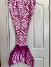Pink Satin Mermaid Blanket Wrap Cozy Sleeping Bag Fur-lined Theme Slumber Party