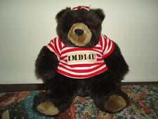 Hallmark IMD14U 10 Inch Brown GRIZZLY BEAR in Prison Outfit
