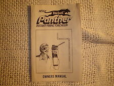 VINTAGE BERNZOMATIC PANTHER TORCHGUN OWNER'S MANUAL RARE OLD ANTIQUE TOOL