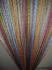 2 x Rainbow Glitter Fringe String Curtain Panel New Free Shipping