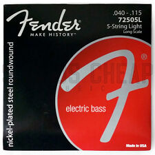 Fender 7250-5L Super Bass Nickel Plated Steel Long Scale 5 String Bass Strings