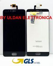 """LCD DISPLAY MEIZU M5S MEILAN M612 M612H 5.2"""" per SCHERMO TOUCH SCREEN VETRO NERO"""
