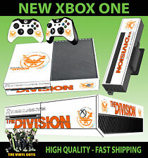 XBOX ONE Console AUTOCOLLANT Tom Clancy THE DIVISION LOGO BLANC 003 Skin & pad