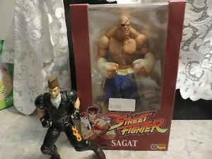 "2005 SOTA Street Fighter Rotocast series Sagat 10"" action figure MISB - Capcom"