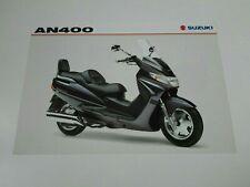 Prospectus Catalogue Brochure Moto Suzuki AN 400 Burgman 1999 English