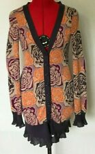 SLEEPING ON SNOW CARDIGAN BLOOMING JACQUARD SWEATER FLORAL PURPLE SIZE XS *J