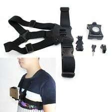 TELESIN Chest Mount Harness Strap Holder with Cell Phone Clip for iphone