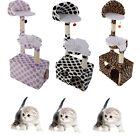 "47"" Cat Tree Tower Condo Sisal Scratcher Furniture Kitten Pet House Hammock Toy"