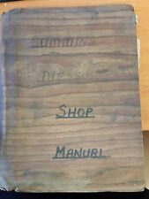 Cummins Diesel Shop Manual H and NH Series 1965