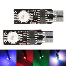 2 x T10 Car RGB Multicolor 5050 LED Bulb Parking Light Flash Strobe 18 Mode New