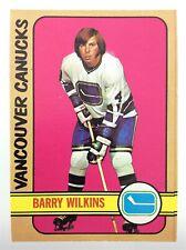 1972-73 Barry Wilkins Vancouver Canucks 109 OPC O-Pee-Chee Hockey Card P073