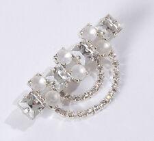 Traumhafte Brosche für besondere Anlässe funkelnder Strass kristall white opal