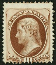 "US Sc# 150 *MINT NO GUM H* { 10c BROWN JEFFERSON } ""SCARCE FROM 1870 CV$ 675.00"