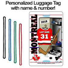 Personalized Montreal Hockey Luggage Tag