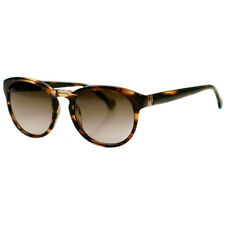 Carolina Herrera Brown Tortoiseshell Round Sunglasses SHE546 09Y7