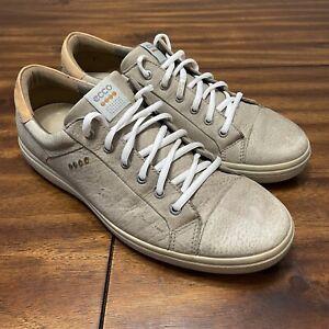 Mens ECCO Biom Hybrid Golf Shoes Taupe/Tan Size US 12-12.5 EU 46