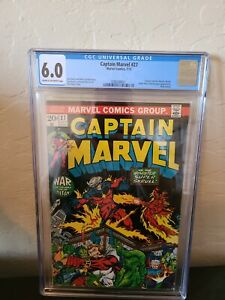 Captain Marvel 27 Cgc 6.0 2nd app of drax the destroyer 3 app of Thanos 1st Eros