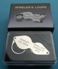2in1 All-Metal Magnifier Jeweler's Loupe Currency detecting/jewelry indentifying