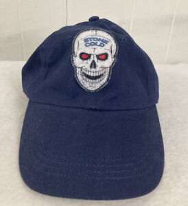 Vintage WWF Stone Cold Steve Austin Skull Austin 3:16 Navy Blue Adjustable Hat