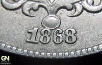 1868 RPD Shield Nickel  --  MAKE US AN OFFER!  #O2486