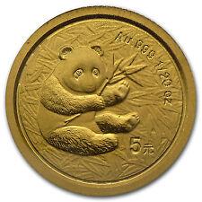 2000 China 1/20 oz Gold Panda Frosted BU (Sealed) - SKU #13405