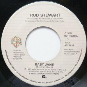 ROD STEWART:  BABY JANE / READY NOW:  NEAR MINT ORIGINAL SINGLE FROM 1983