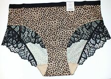 Auden Polished Micro Brief Soft & Silky Cheetah Print Lace Womens - Choose Size