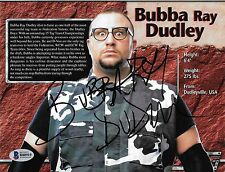 Bubba Ray Dudley Signed 7x9 WWE Live Event Program Page Photo BAS Beckett COA
