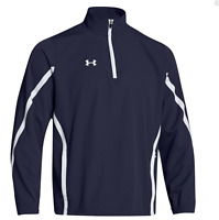 Under Armour UA Team Mens Essential 1/4 Zip Shirt Pullover Jacket 1255042 Navy S