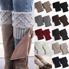 Womens Crochet Knit Boot Cuffs Toppers Short Ankle Socks Winter Warm Leg Warmers