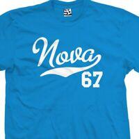 Nova 67 Script Tail T-Shirt - 1967 Classic Muscle Car Tee  - All Sizes & Colors