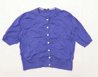 Laura Ashley Womens Size 14 Cotton Blend Purple Cardigan (Regular)