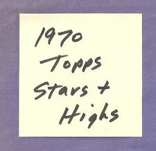 1.79 each STAR + HIGH # cards lot- you pick from 1970 Topps Baseball set