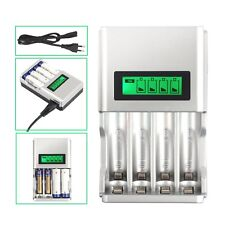 Akku LCD Universal Akku Ladegerät Batterie Aufladegerät 4 AA AAA Schnelladegerät