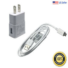for Samsung Galaxy S2 S3 S4 Micro USB Data Cable + Fast Rapid Home Wall Charger