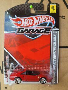 Hotwheels 2011 GARAGE SERIES - FERRARI 308 GTS [RED] CAR MINT OPENED CARD