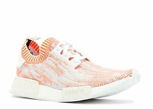 Adidas Men's NMD_R1 Primeknit Shrimp Glitch Camo White/Solar Red Sz 11.5 BA8599