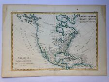 NORTH AMERICA 1780 by RIGOBERT BONNE ANTIQUE MAP 18e CENTURY IN COLORS