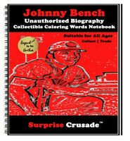 Johnny Bench Baseball Card Sports Trading Card Notebook AUTHOR AUTOGRAPH SET