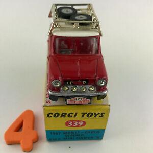 #4 CORGI Toys #339 - 1967 Monte Carlo winner BMC Mini Cooper S in PICTORIAL BOX