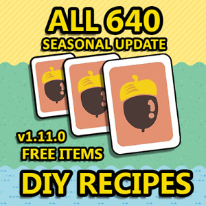 New Horizons: All 640 DIY Recipes! Updated to v1.11.0!