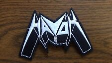 HAVOK,IRON ON WHITE EMBROIDERED PATCH