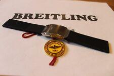 100% Genuino Nuevo Breitling Negro Correa de implementación de Buzo Pro Acanalado & Broche 22-20