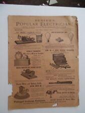 1894 Bubier's Popular Electrician Magazine Antique Electrical Popular Science