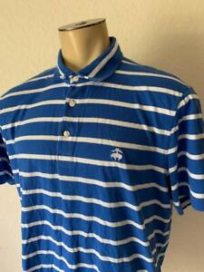 BROOKS BROTHERS Blue & White Striped Men's Polo Size XLarge $80