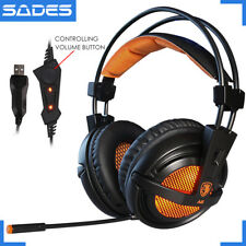 Sades A6 Gaming Headphones Gaming Headset With Microphone USB Stereo Gaming