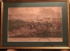 "Rare! Hunting in Greenwich Park equine LONDON AQUITINTO PRINT ""CITY SPORTSMEN"""