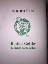 Boston Celtics Prospectus 1986 NBA Collectible Basketball Rare Father's Day